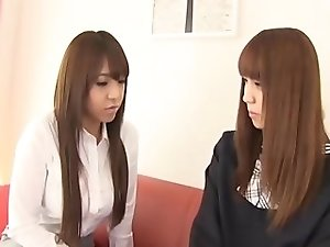 Big tit Japanese futanari slut seduces shoolgirl