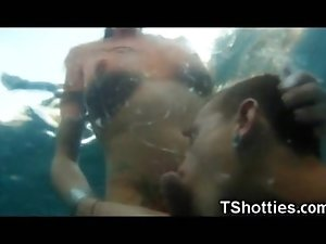 Tranny Party Underwater Cumshots!
