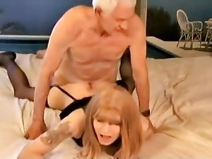 Grandpa fucked Crossdresser